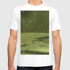 Khaki Bubbles Mens Fitted Tee White MEDIUM