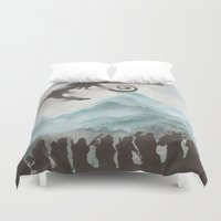 smaug Duvet Covers featuring The Desolation of Smaug by JadeJonesArt