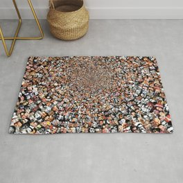"""""""The Work 3000 Famous and Infamous Faces Collage Rug"""