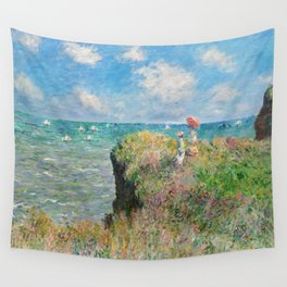 1882-Claude Monet-Cliff Walk at Pourville-66 x 82 Wall Tapestry