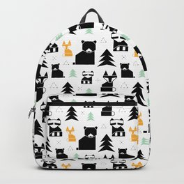 Woodland Animals Geometric Backpack