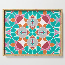abstract pattern , flower pattern Serving Tray