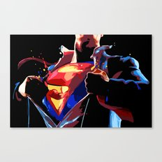 Superman - Secret Identity Canvas Print