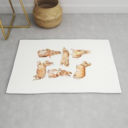 Bunnies in Tales of Peter Rabbit  characters Beatrix Potter Rug