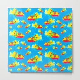 Aloha Fishies Metal Print