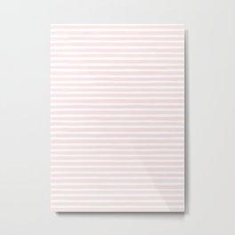 Stripes, Pink, Minimal, Scandinavian, Abstract, Pattern, Modern art Metal Print