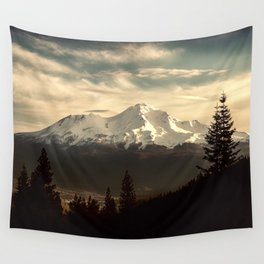 Mount Shasta Waking Up Wall Tapestry