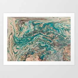 Turquoise Rivers Art Print