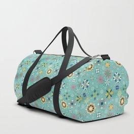 Christmas snowflakes pattern Duffle Bag