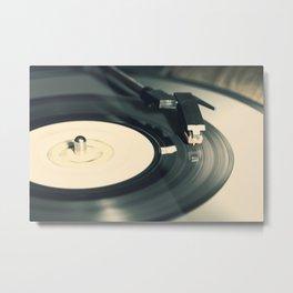 Vintage Vinyl Record 2 Metal Print