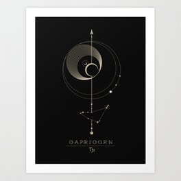 Capricorn Zodiac Constellation Art Print