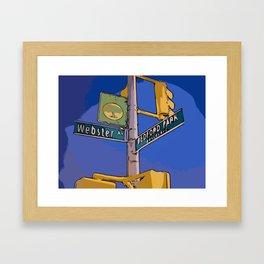 Webster Avenue and Bedford Park Boulevard - Bronx, NY Framed Art Print