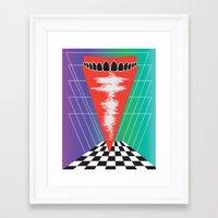 rooster teeth Framed Art Prints featuring .Teeth by Daeton Hebert