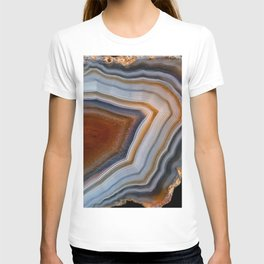Layered agate geode 3163 T-shirt