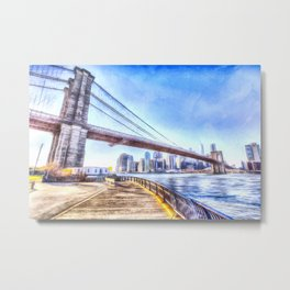 Brooklyn Bridge New York Art Metal Print