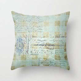 carnet de chèques Throw Pillow