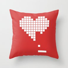 Geek Love Throw Pillow