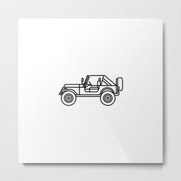 jeep - wear an icon Metal Print