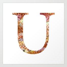 "Initial letter ""U"" Art Print"