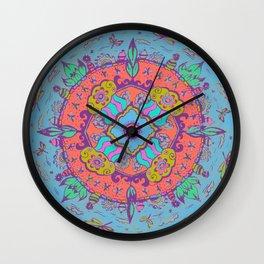 Dragonfly Mandala Pattern Wall Clock
