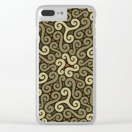 tendrils pattern Clear iPhone Case