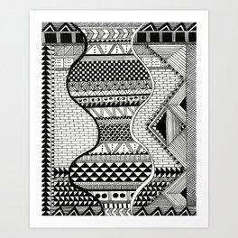 Wavy Geometric Patterns Art Print