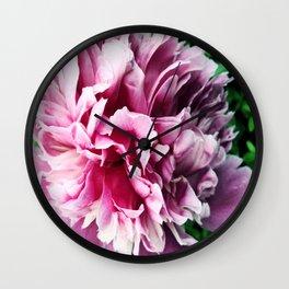 Big pink peony Wall Clock