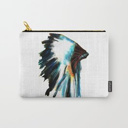 Indian Headdress Native America Illustration Carry-All Pouch