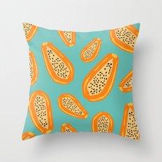Papaya Throw Pillow