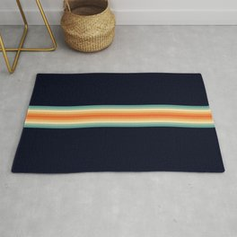Classic Retro 70s Vintage Style Stripes - Enesa Rug