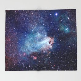 Omega Nebula Throw Blanket