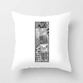 Cutout Letter I Throw Pillow