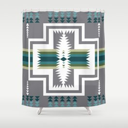 American Native Pattern No. 454 Shower Curtain