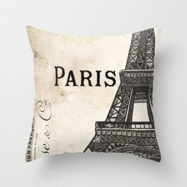 Paris Ooh La La 1 Throw Pillow