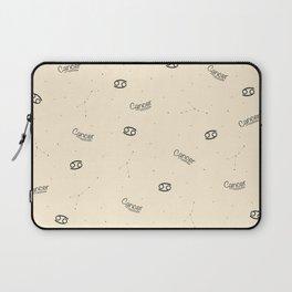 Cancer Pattern - Beige Laptop Sleeve
