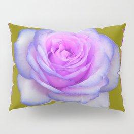 PINK-BLUE TINGED ROSES ON KHAKI COLOR Pillow Sham