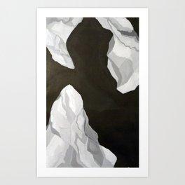 plastic bag floating in the wind Art Print