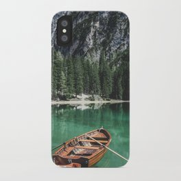 Boats at the Lake // Landscape Photography iPhone Case