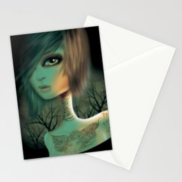 Tattooed Girl  Stationery Cards
