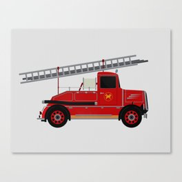 Vintage Fire Engine Canvas Print