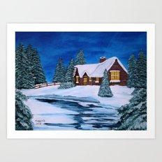 Winter landscape-1 Art Print