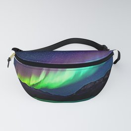 A Spectacle Of Polar Lights   Oil Painting Fanny Pack