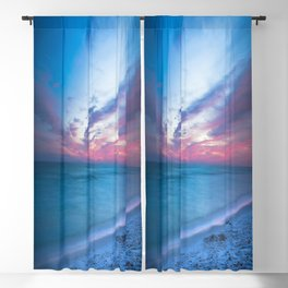 If By Sea - Sunset and Emerald Waters Near Destin Florida Blackout Curtain