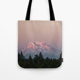 Mt. Rainier at Sunset Tote Bag
