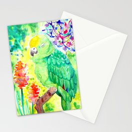 Sleepy Parrot || Watercolor Painting Stationery Cards