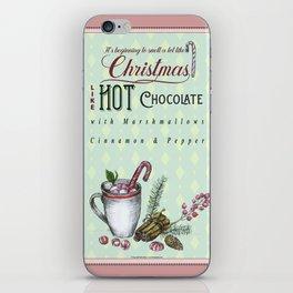 Christmas Hot chocolate iPhone Skin