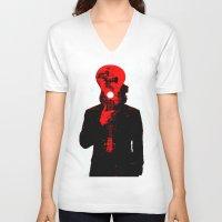 eddie vedder V-neck T-shirts featuring Eddie Vedder by Alec Goss