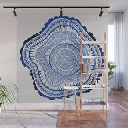 Growth Rings – 65 Years – Navy Wall Mural
