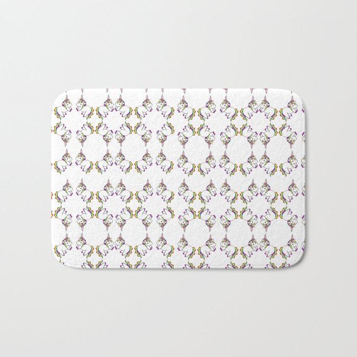 Plushie Unicorn Pattern Bath Mat