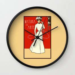 Nature ed Arte, Italian Lady on an antique telephone Wall Clock